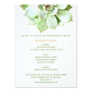 Cartão Cerco bonito do itinerário do casamento do