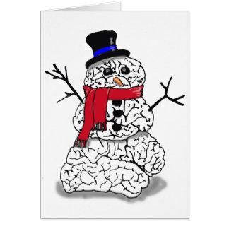 Cartão Cérebro da neve