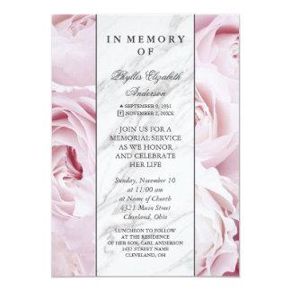 Cartão Cerimonia comemorativa cor-de-rosa do rosa & a