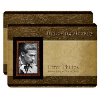 Cartão Cerimonia comemorativa de couro da foto do