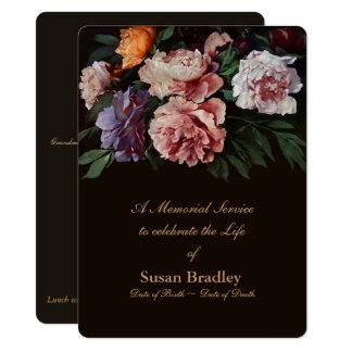 Cartão Cerimonia comemorativa floral da pintura 2 das