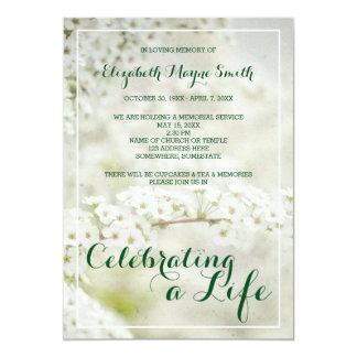 Cartão Cerimonia comemorativa que comemora a respiração
