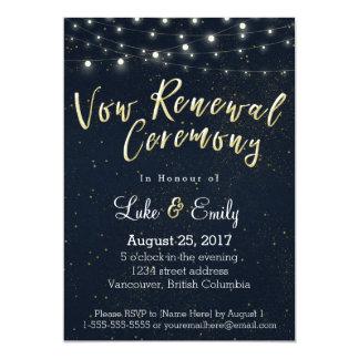 Cartão Cerimónia da meia-noite da renovação do voto do