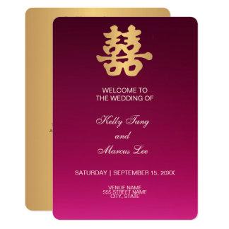 Cartão Cerimónia de casamento da felicidade | do dobro do