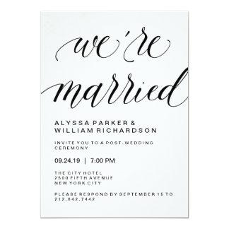 Cartão Cerimónia de casamento simples elegante do cargo