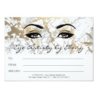 Cartão Certificado de mármore branco Ebony2 da beleza da