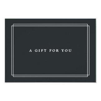 Cartão Certificado de presente chique do carvão vegetal  