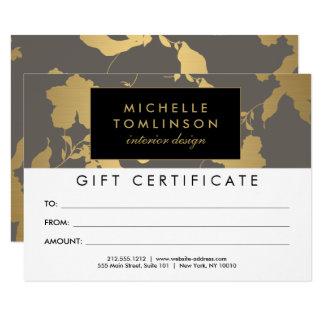 Cartão Certificado de presente cinzento do teste padrão