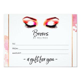 Cartão Certificado de presente criativo das sobrancelhas