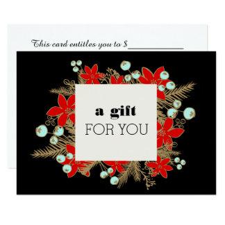 Cartão Certificado de presente de época natalícia de