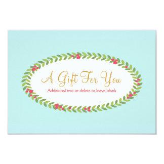 Cartão Certificado de presente do Natal da beleza da