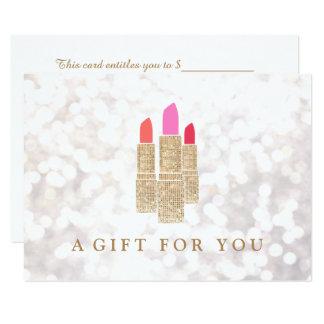 Cartão Certificado de presente do salão de beleza do