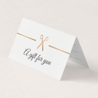 Cartão Certificado de presente elegante do cabelo branco