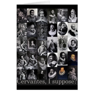 Cartão Cervantes, eu supor? … Retratos de Cervantes