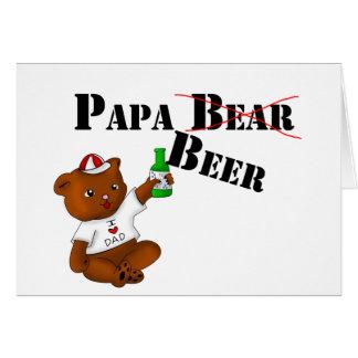 Cartão Cerveja da papá