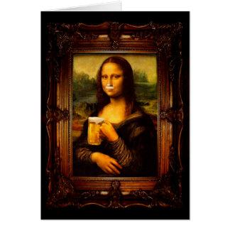 Cartão Cerveja de Mona lisa - de Mona lisa - lisa-cerveja