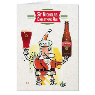 Cartão Cerveja inglesa do Natal