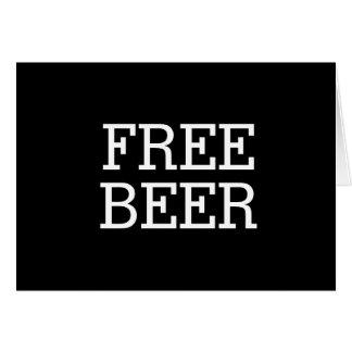 Cartão Cerveja livre você será meu melhor homem do