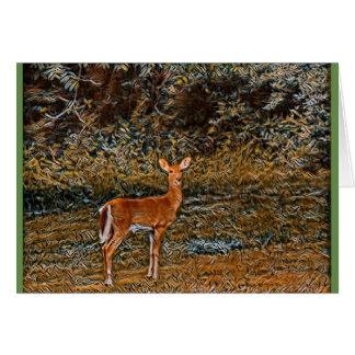 Cartão Cervos astutos