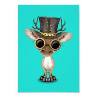 Cartão Cervos bonitos do bebê de Steampunk