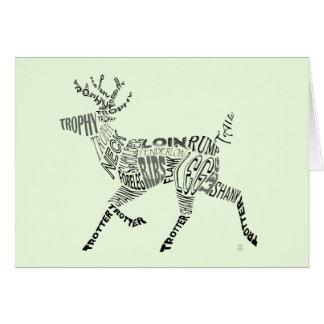 Cartão Cervos Calligram