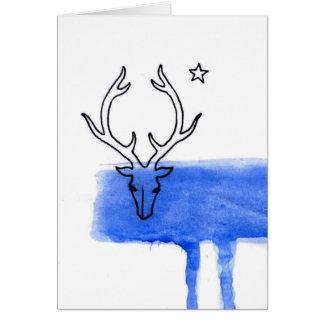 Cartão Cervos da lua azul