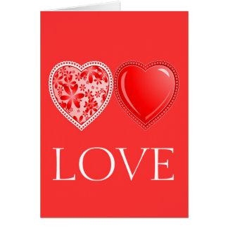 Cartão Cervos do amor
