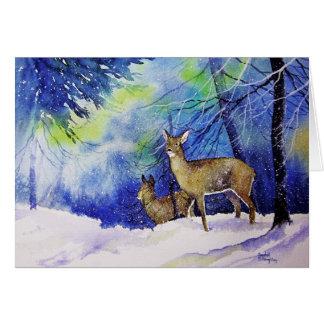Cartão Cervos do Natal