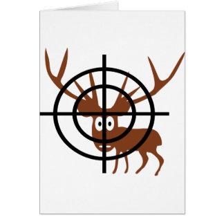 Cartão cervos engraçados no ícone do crosshair
