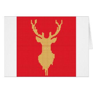 Cartão Cervos feitos malha