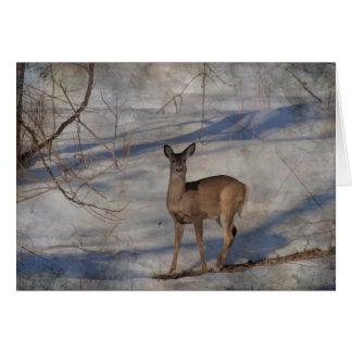 Cartão Cervos na neve