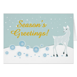 Cartão Cervos nevado
