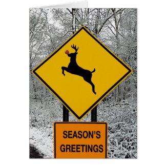 Cartão Cervos nos faróis