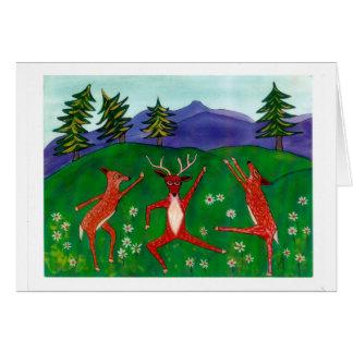 Cartão Cervos Notecard da dança