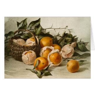 Cartão Cesta das laranjas