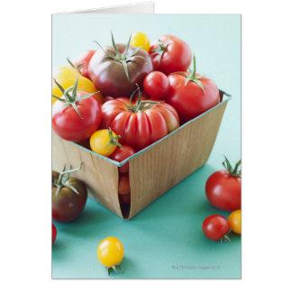 Cartão Cesta de tomates da herança