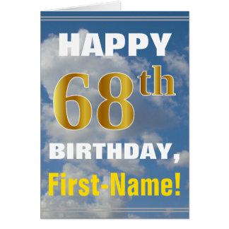 Cartão Céu corajoso, nebuloso, aniversário do ouro do
