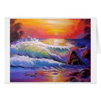 Cartão Céu da noite da praia de Kailua