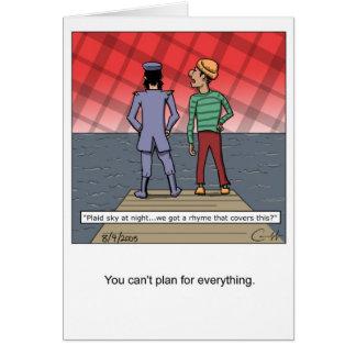 Cartão Céu da xadrez