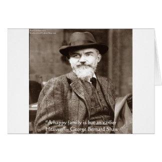 """Cartão Céu de George B Shaw da """"presentes das citações da"""