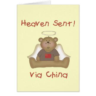 Cartão Céu enviado através de China