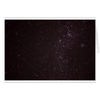 Cartão céu estrelado