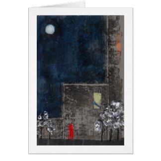 Cartão Céu nocturno, porta vermelha