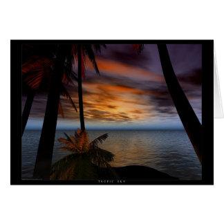 Cartão Céu tropico