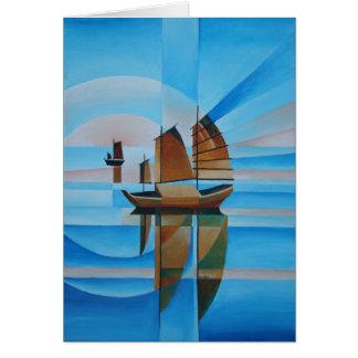 Cartão Céus macios, mares Cerulean e sucatas do Cubist