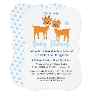 Cartão Chá azul do bebé do inverno dos corações dos