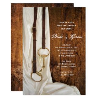 Cartão Chá de casamento branco do país do bocado do cetim