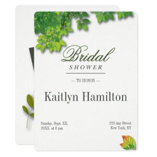 Cartão Chá de casamento do carvalho do outono