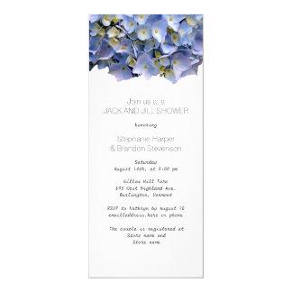 Cartão Chá de casamento floral azul de Jack e de Jill