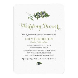 Cartão Chá de casamento verde-oliva do pomar   da